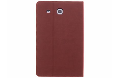 Samsung Galaxy Tab E 9.6 hoesje - Gecko Covers Bruine Easy-Click