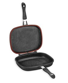 dubbelzijdige grillpan (zwart) 32cm