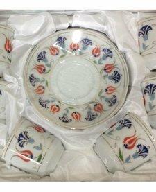 Bricard porcelain Turkse koffieset