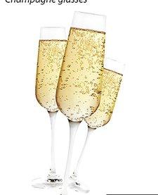 Mutfak şampanya kadehleri (2 set)