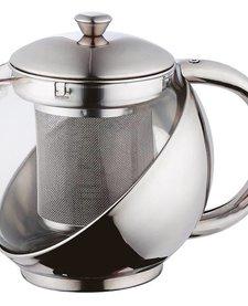 Roestvrijstalen theepot met filter (0,75 liter)