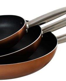 Koekenpanset Copper 20, 24 en 28 cm