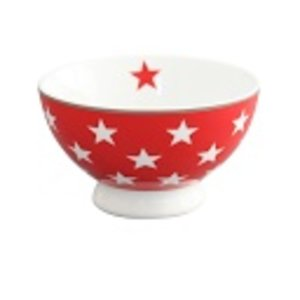 Krasilnikoff Happy bowl red star
