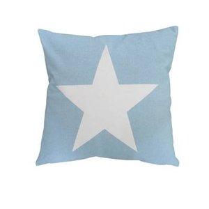 Krasilnikoff Kussenhoes lichtblauw met ster