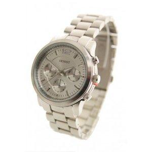 Ernest horloge 'Michael' zilver