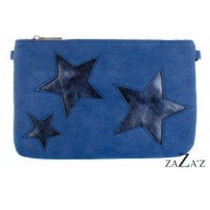 zaZa'z Clutch blauw met sterren