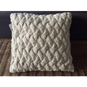 Kussen cross weave off white
