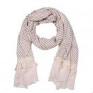C&S Designs Sjaal off white stripe