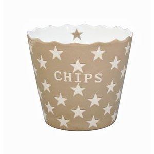 Krasilnikoff Happy Stars Chips schaal taupe
