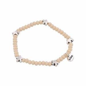Biba Armband | beige silver star