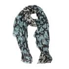 C&S Designs Sjaal met ster | beige/groen