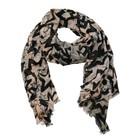 C&S Designs Sjaal met ster | beige/zalm roze