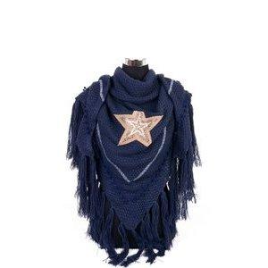 Omslagdoek ster | donkerblauw