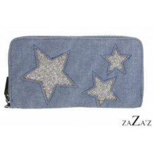 zaZa'z Portemonnee sterren | lichtblauw
