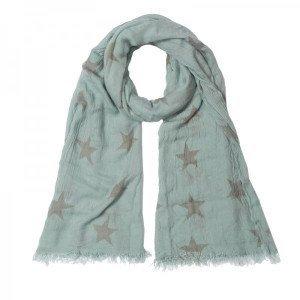 Sjaal grote ster blauw/grijs