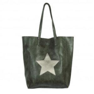 Yehwang Tas | Citybag Star | groen