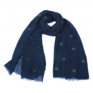 Yehwang Sjaal delicate stars | blauw
