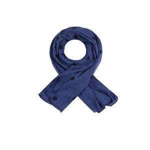 C&S Designs Sjaal blauw ster zwart