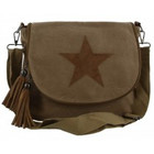 Canvas bag crossy star khaki