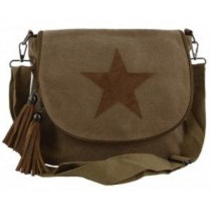 Canvas bag crossy star khaki