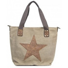 Canvas bag khaki star
