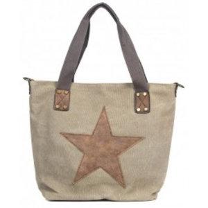 Canvas bag khaki star