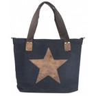 Canvas bag black star