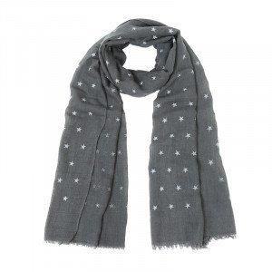Yehwang Sjaal glitter stars | grijs