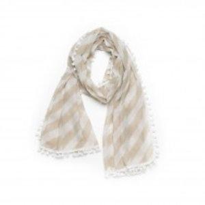Biba Sjaal stripes taupe