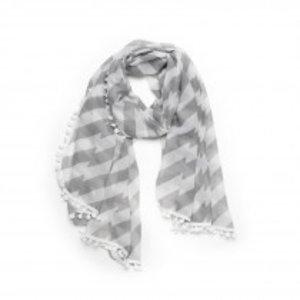 Biba Sjaal stripes grijs