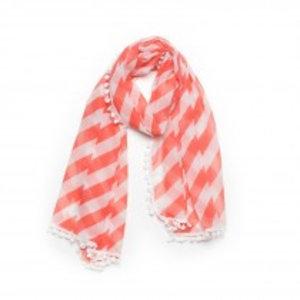 Biba Sjaal stripes koraal