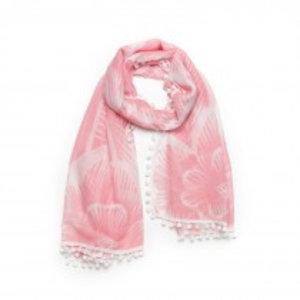Biba Sjaal flower roze