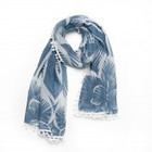 Biba Sjaal flower blauw