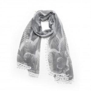 Biba Sjaal flower grijs