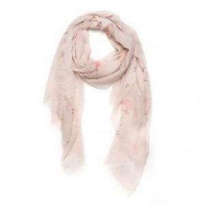 Biba Sjaal roze met flamingo