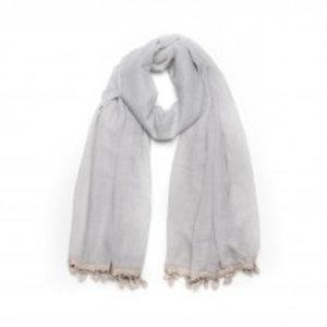 Biba Sjaal grijs met kwastjes
