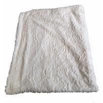 Crème zachte plaid - 150x120 cm