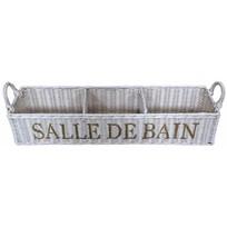 Witte rieten badkamermand - Salle de Bain
