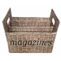 Rieten lectuurmand - Magazines