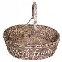 Rieten fruitmand - Fresh fruits