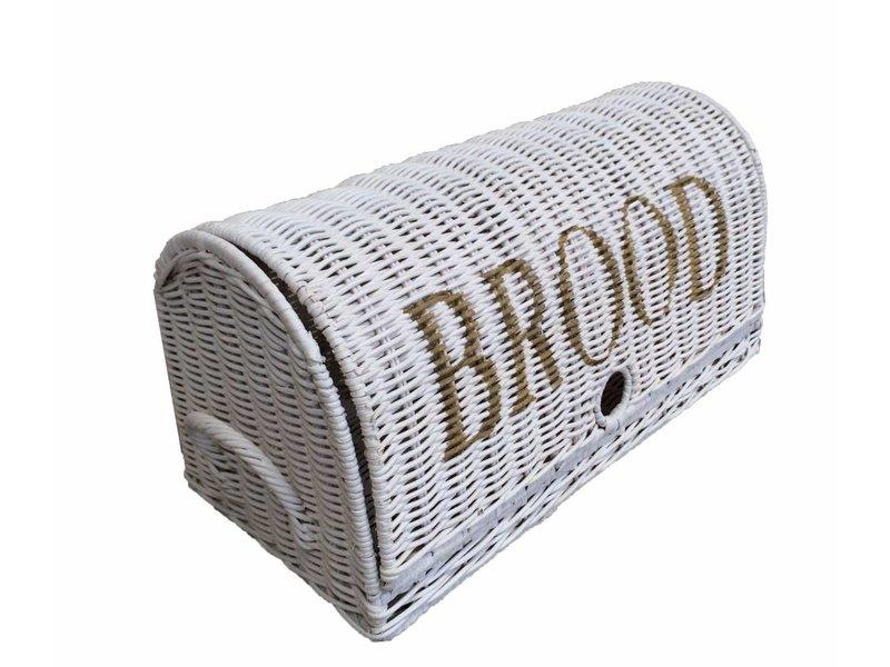 GeWoon Witte rieten broodmand - Brood