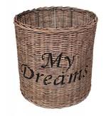 GeWoon Ronde rieten hanglampenkap - My Dreams