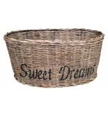 GeWoon Bruine ovalen rieten lampenkap - zwart Sweet Dreams