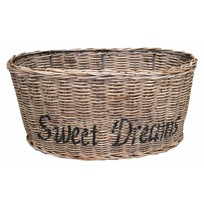 Bruine ovalen rieten lampenkap - zwart Sweet Dreams