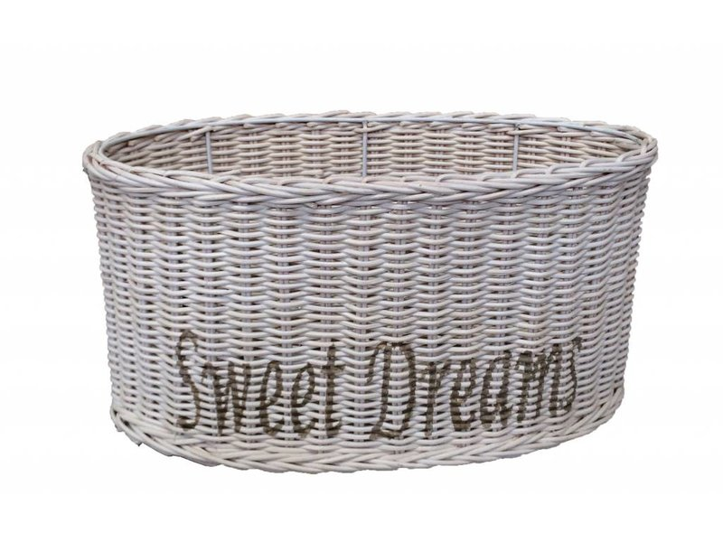 GeWoon Ovale witte rieten lampenkap - Sweet Dreams