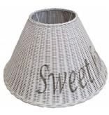 GeWoon Witte rieten lampenkap - Sweet Home