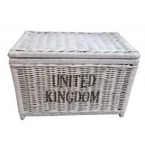 Grote witte rieten mand XL - United Kingdom