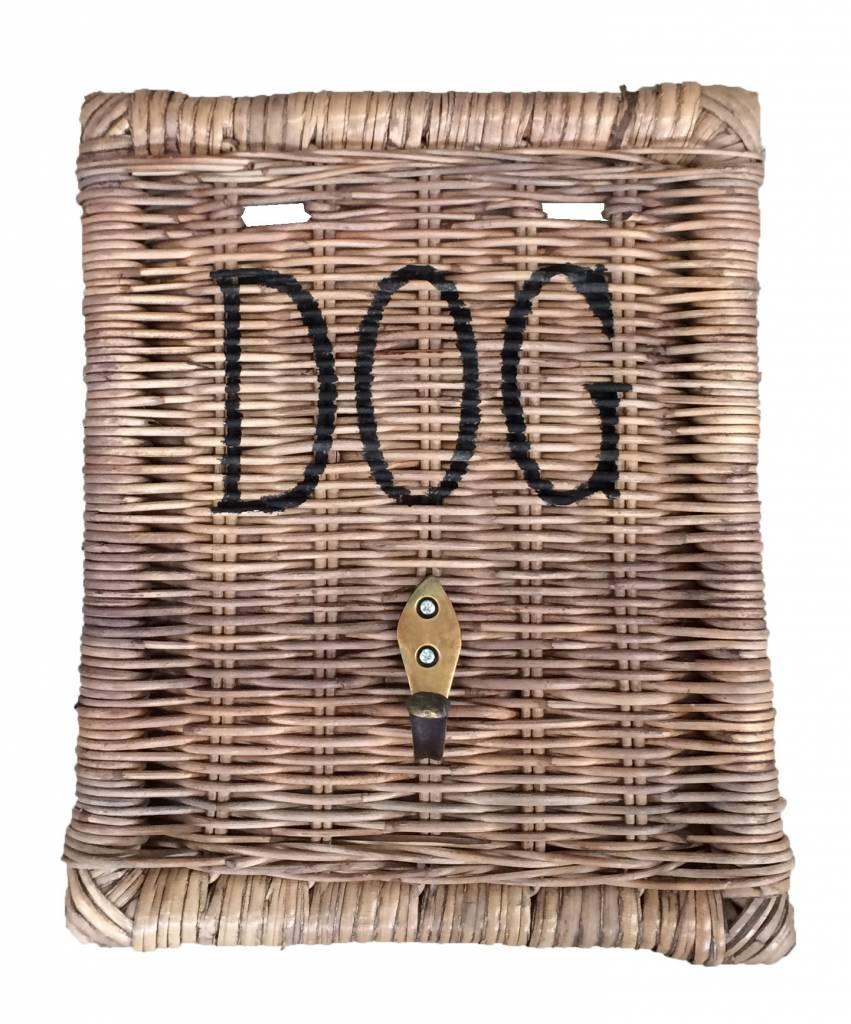 GeWoon Rieten hondenriemhanger - Dog