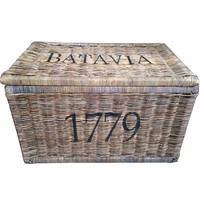 Grote rieten mand XL - Batavia 1779