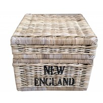 Vierkante rieten mand - New England